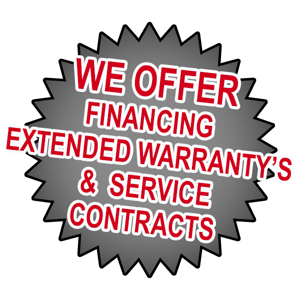 we offer financing extended warranty's & service contracts