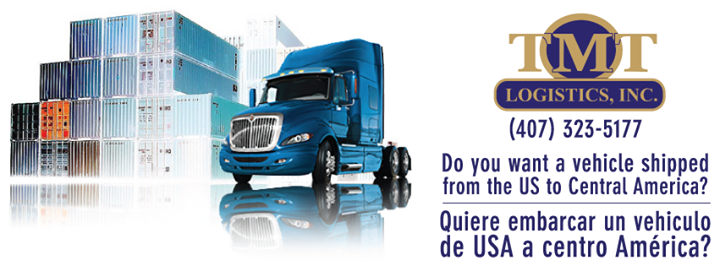 Do you want a vehicle shipped from the US to Central America? Quiere embarcar un vehiculo de USA a centro America?