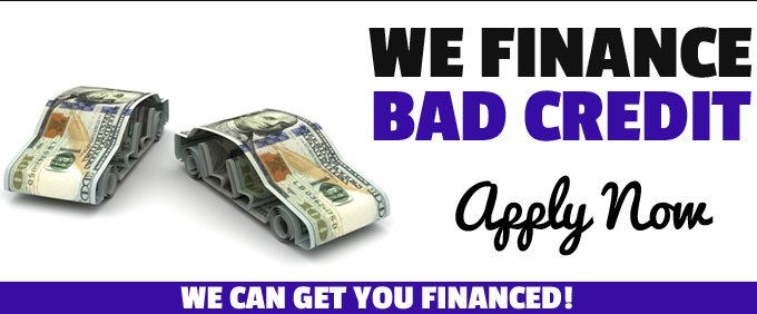 we finance bad credit. apply now. we can get you financed!