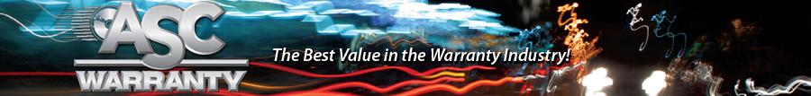 ASC Warranty. The best value in the warranty industry.