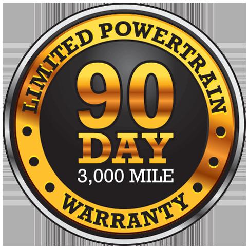 Limited Powertrain 90 Day 3,000 Mile Warranty