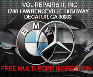vol repairs II ince 1788 lawrenceville highway decatur ga 30033. free multi-point inspection.