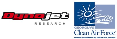 Dyno jet research and clean air force logo