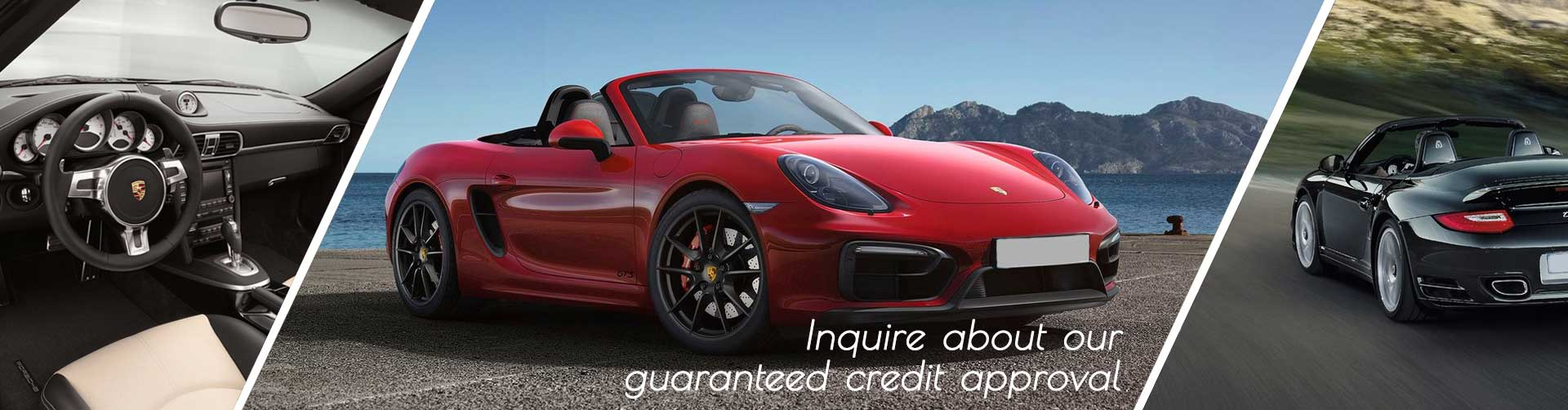 inquire about our guaranteed credit approval