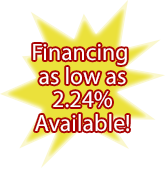 financing as low as 2.49% available!
