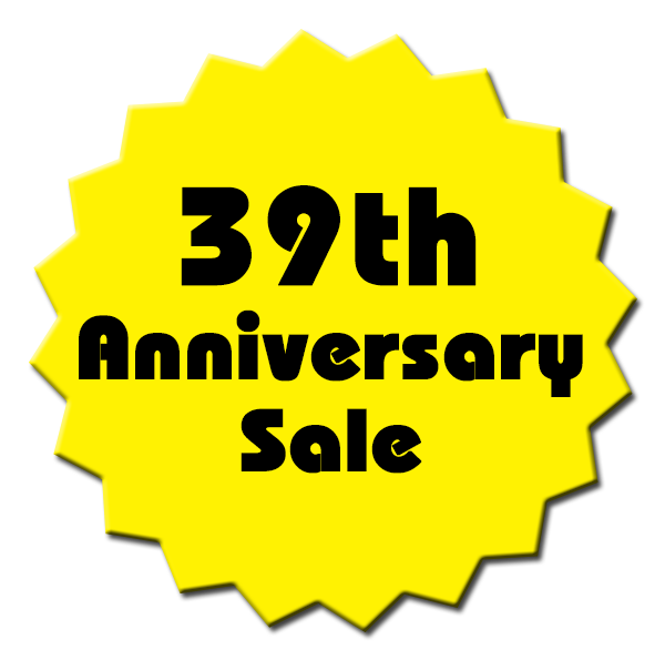 39th Anniversary Sale