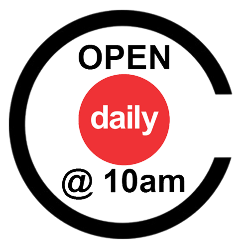 Open Daily @ 10 AM
