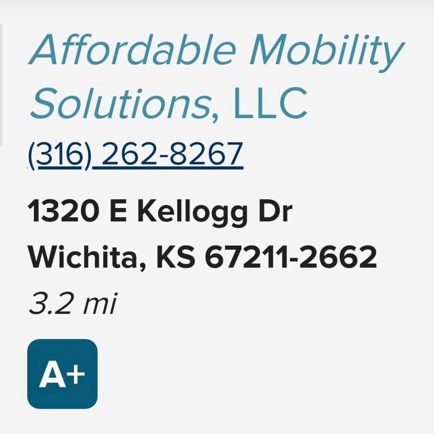 Affordable Mobility Solutions, LLC, Wheelchair & Disability Transportation, Wichita, KS