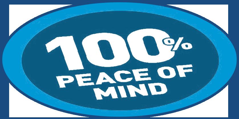 100% PEACE OF MIND
