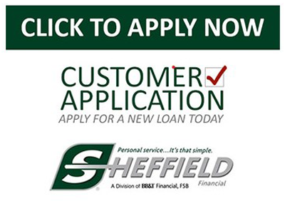 click to apply now customer application apply for a new loan today sheffield financial