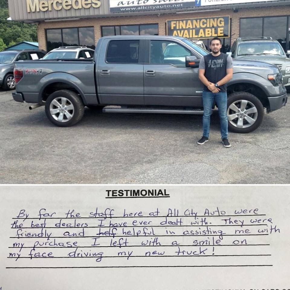 Customer Testimonials - All City Auto Sales in Indian Trail, NC