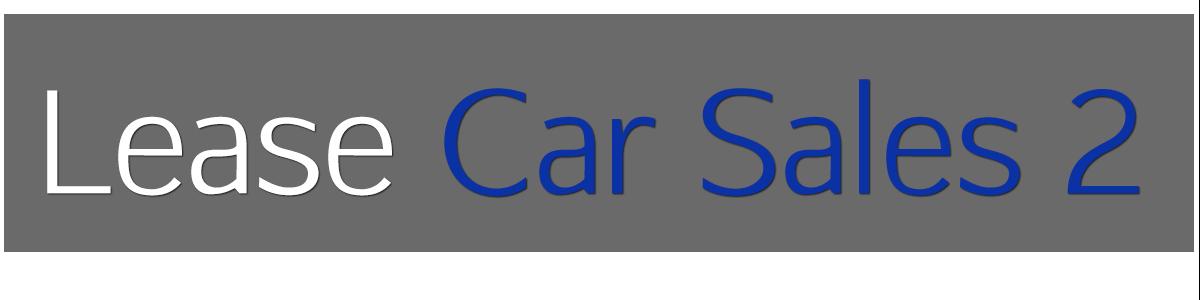 Lease Car Sales 2